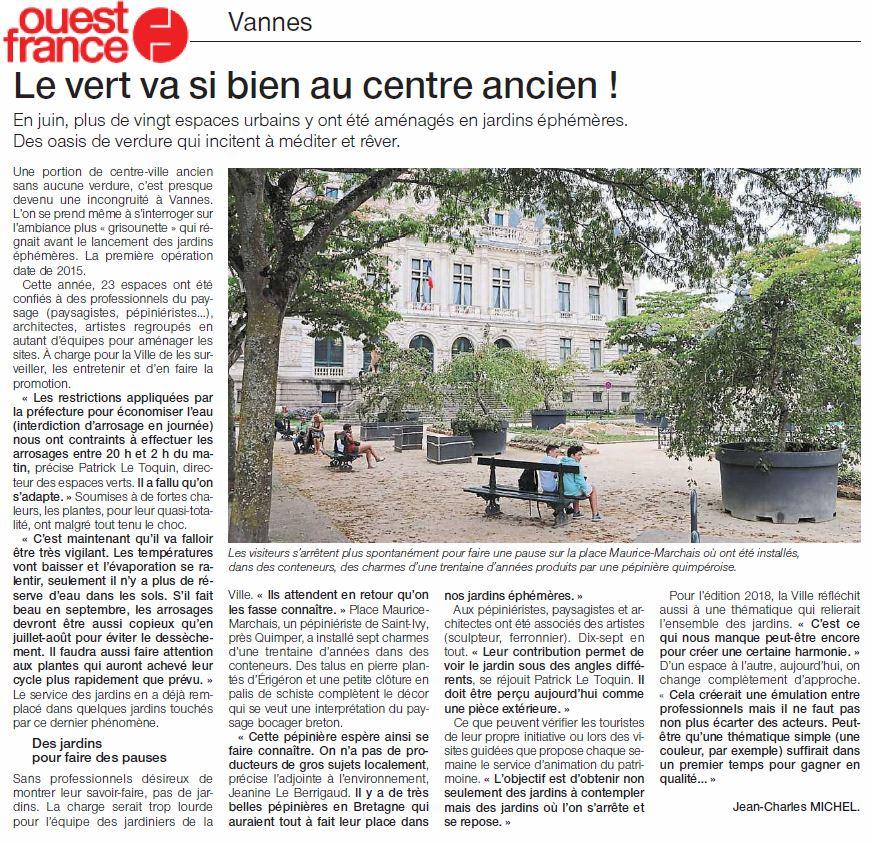 vannes jardins éphémeres ouest-france-27aout 2017