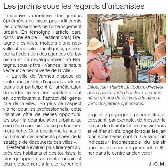 vannes jardins éphémeres urbanistes ouest-france-27aout 2017