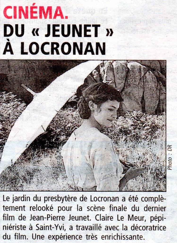 Audrey Tautou, Un long dimanche de fiançailles, Pépinières le Meur, Le jardin du presbytre de Locronan